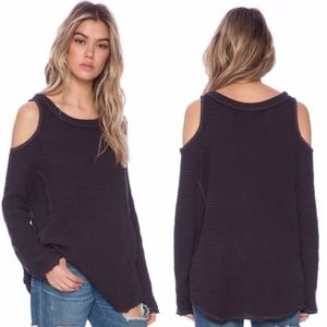 Free People Sunrise Cold Shoulder Pullover Sweater